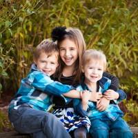 Family portrait kids